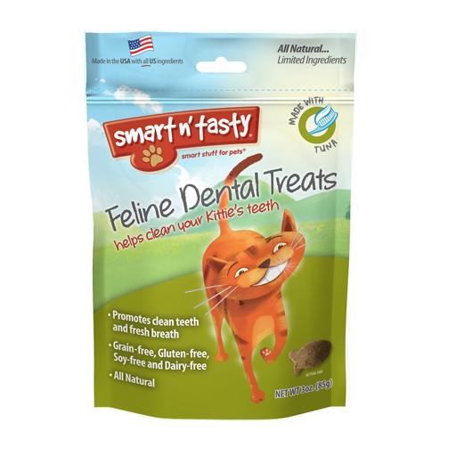 Emerald Pet Products Smart n' Tasty Feline Dental Treat Tuna 3oz