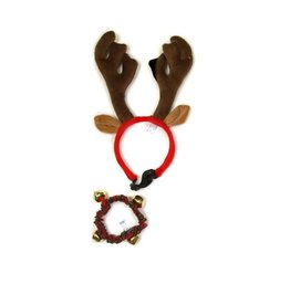 Kyjen Outward Hound Antler Headband + Collar Large