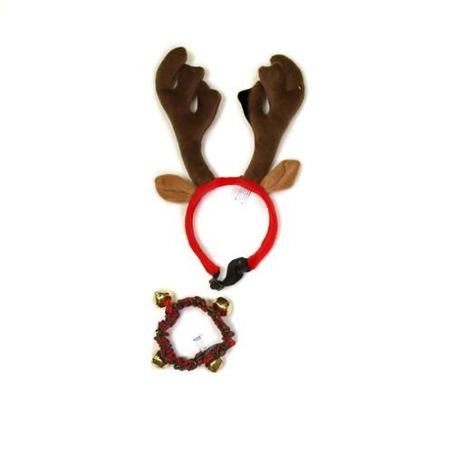 Kyjen Outward Hound Antler Headband + Collar Medium