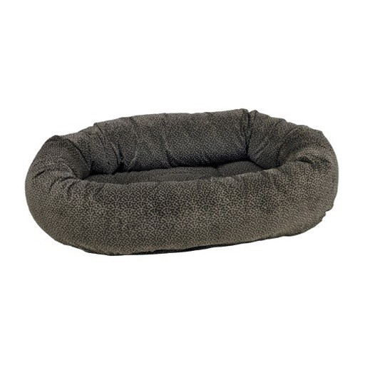 Bowsers Bowsers Donut Bed Pewter Bones M