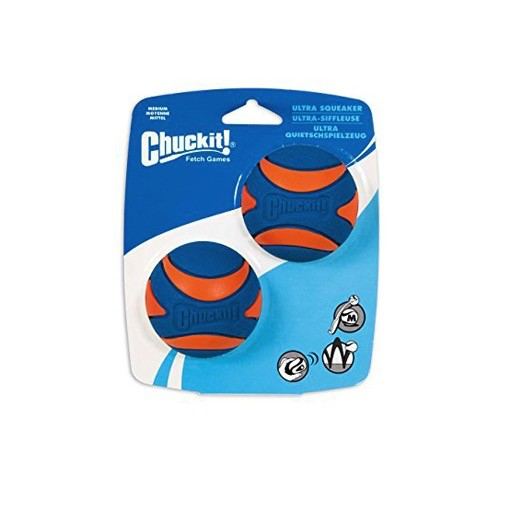 Chuckit! Ultra Squeaker Ball Medium 2pk