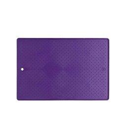 "Dexas Dexas Pet Bowl Grippmat Purple 17"" x 23.5"""
