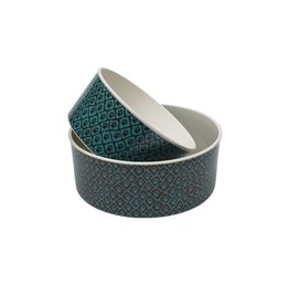 Ore Ore Pet Happy Paws Bowl Set Teal