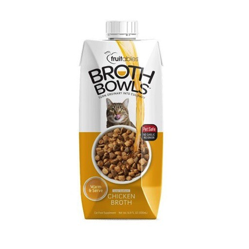 Fruitables Broth Bowls Cat Chicken<br /> 500ml