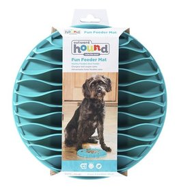 Kyjen Outward Hound Fun Feeder Mat Teal