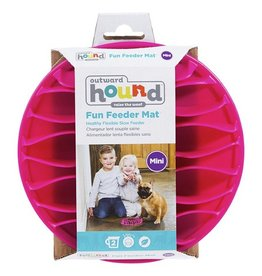 Kyjen Outward Hound Fun Feeder Mat Pink Mini