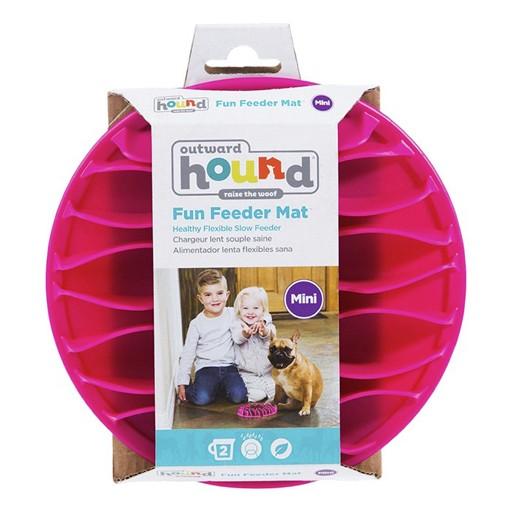 Kyjen Outward Hound Fun Feeder Mat Pink Mini