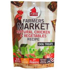 Plato Pet Treats Farmers Market Chicken & Veg 4oz