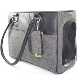 Be One Breed Pet Carrier Black and Grey Medium