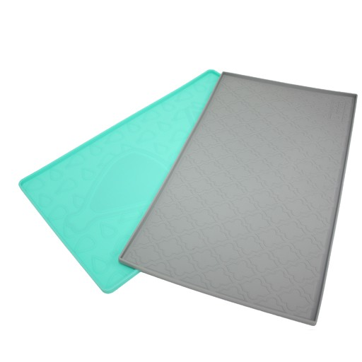 "Be One Breed Silicone Mat Playful Turquoise 19""x11.8"""