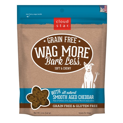 Cloud Star Wag More Bark Less Soft & Chewy Treats Smooth Aged Cheddar 5oz