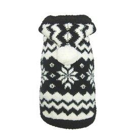 Hip Doggie Hip Doggie Snowflake Hooded Sweater