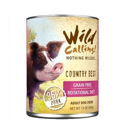 Wild Calling Wild Calling Dog Can Country Best 96% Pork 13oz