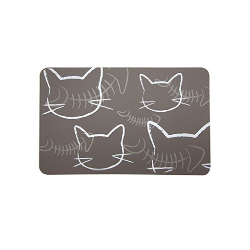 Fou Fou Dog Fou Fou Silicone Placement Taupe with Cats 19 x 12""