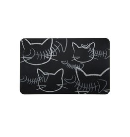 Fou Fou Dog Fou Fou Silicone Placement Black with Cats 19 x 12""