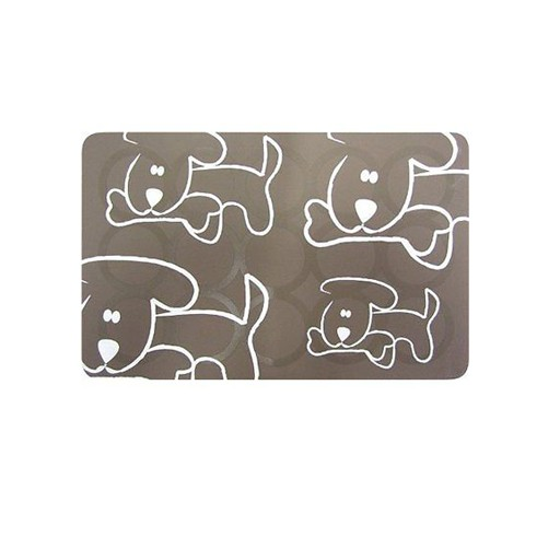 Fou Fou Dog Fou Fou Silicone Placement Taupe with Dogs 19 x 12""