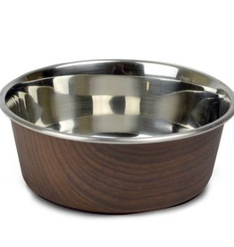 Our Pets Durapet Our Pets Wood Grain Collection Dark Brown 4 cup