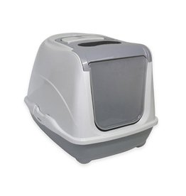 Moderna Moderna Flip Cat Enclosed Litter Box Warm Grey Large