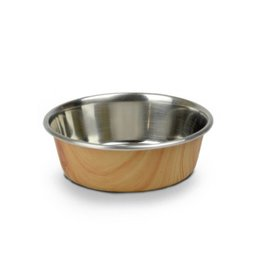 Our Pets Durapet Our Pets Wood Grain Collection Brown 1.25 cup