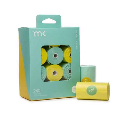 Modern Pet Brands Modern Pet Brand Poop Bags Turquoise & Yellow 240ct