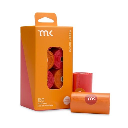 Modern Pet Brands Modern Pet Brand Poop Bags Orange & Coral 160ct