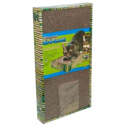 Ware Manufacturing Ware Corrugated Cat Scratcher Sit-N-Scratch Double