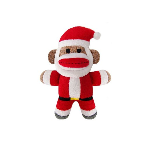 Huxley & Kent Huxley & Kent Holiday Sock Monkey Jolly Santa Small