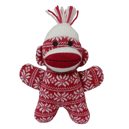 Huxley & Kent Huxley & Kent Holiday Sock Monkey Red Crystal Small