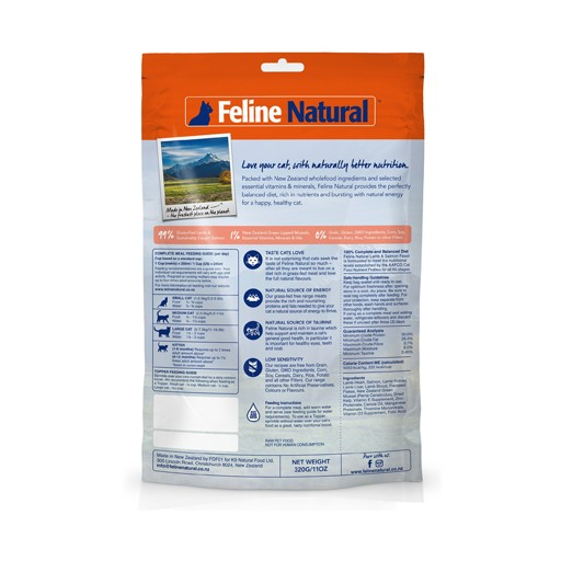 K9 Natural K9 Feline Natural Freeze Dried Lamb & Salmon 320g