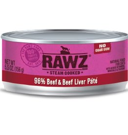 Rawz Cat Can Beef & Beef Liver 5.5oz