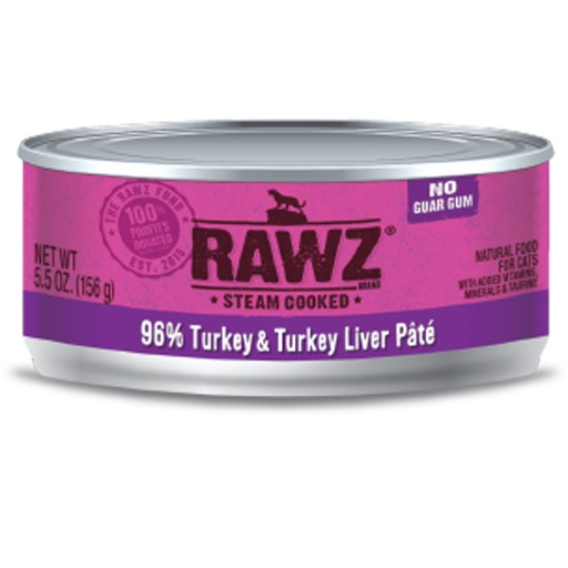 Rawz Cat Can Turkey & Turkey Liver 5.5oz