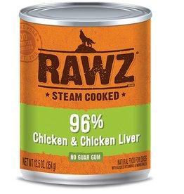 Rawz Dog Can 96% Chicken & Chicken Liver 12oz