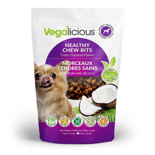 Fou Fou Dog Vegalicious Healthy Chew Bites Semi-Moist Crazy Coconut