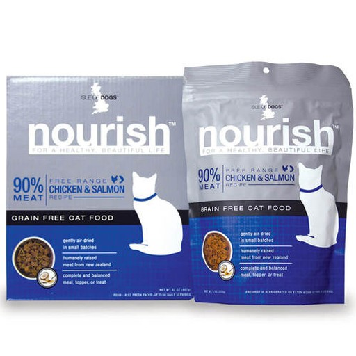 Isle of Dogs Isle of Dogs Nourish Chicken and Salmon Cat 8oz