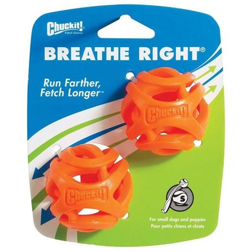 Chuckit! Breath Right Fetch Ball Small 2pk