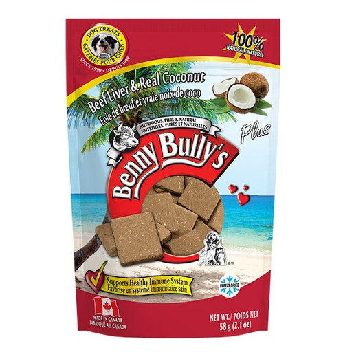 Benny Bully's Beef Liver Plus Coconut 58g