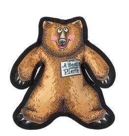 Fuzzu Fuzzu Wild Woodies Pierre the Bear Dog Toy