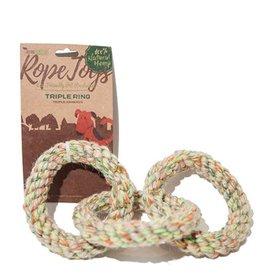 Define Planet Rope Toy Triple Ring Medium