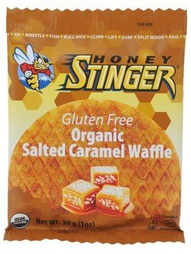 HONEY STINGER GLUTEN FREE ORGANIC SALTED CARAMEL WAFFLE