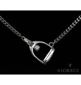 Loriece Tilted Stirrup Necklace