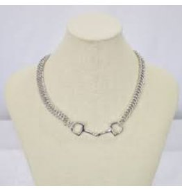 Michel McNabb Large Bit with Curb Chain Necklace