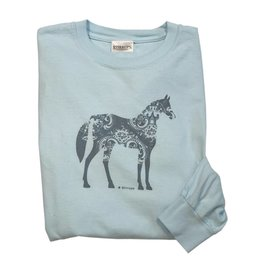 Stirrups Clothing Company Paisley Horse Long Sleeve Tee