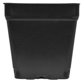 """Black Square Shuttle Pot, 3.5"""" x 3.5"""" x 3.5"""