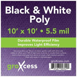 groXcess GroXcess Black and White Poly 10 x 10