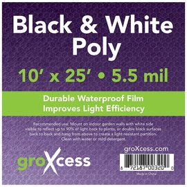 groXcess GroXcess Black and White Poly, 10' x 25
