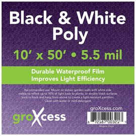 groXcess GroXcess Black and White Poly 10 x 50