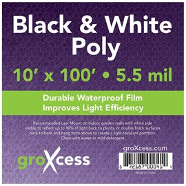 groXcess GroXcess Black and White Poly 10 x 100