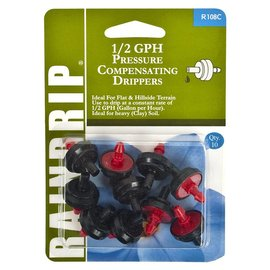 Raindrip Pressure Compensating Dripper, 1/2 gph