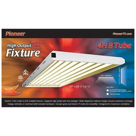 Pioneer Pioneer 4' x 8 Tube T5 Fixture with Grow Tubes