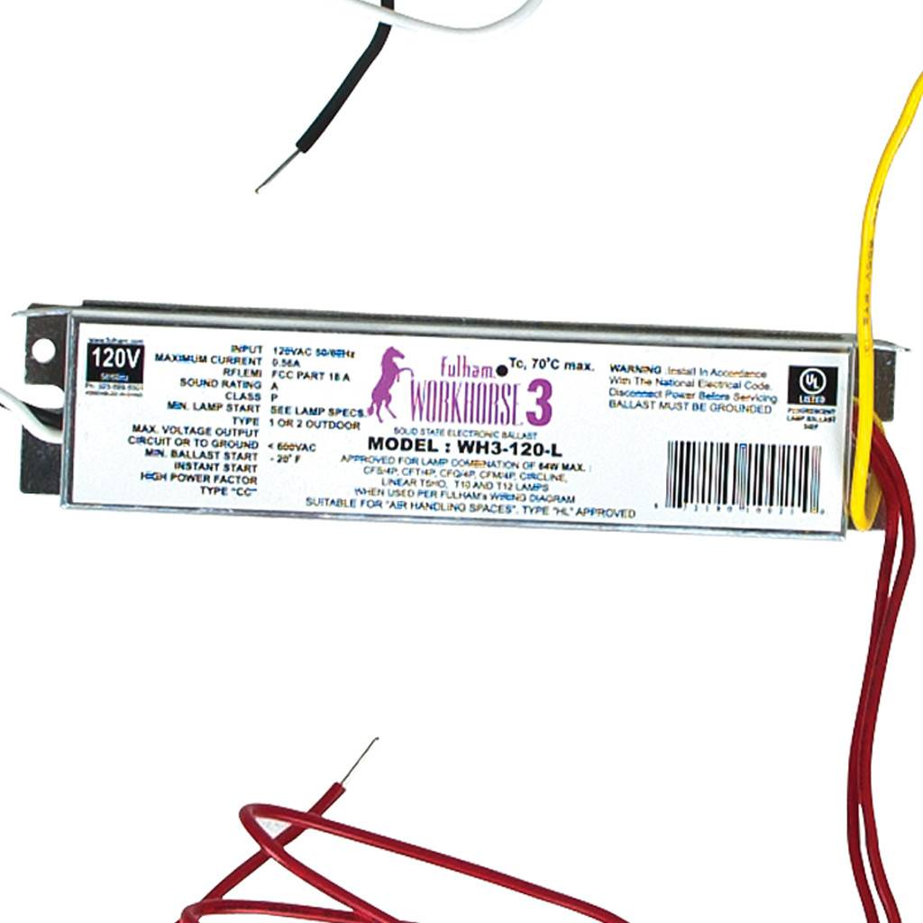 Fulham Workhorse 3 For T5 Ho Fixtures 64w 120v St Louis Ballast Wiring Diagram